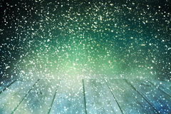 Επιτραπέζιο υπόβαθρο Χριστουγέννων Ξύλινη ανασκόπηση Στοκ φωτογραφία με δικαίωμα ελεύθερης χρήσης