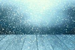 Επιτραπέζιο υπόβαθρο Χριστουγέννων Ξύλινη ανασκόπηση Στοκ Εικόνες