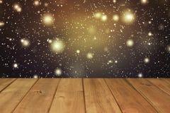 Επιτραπέζιο υπόβαθρο Χριστουγέννων Ξύλινη ανασκόπηση Στοκ εικόνες με δικαίωμα ελεύθερης χρήσης