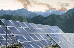 Επιτροπές ηλιακής ενέργειας Στοκ φωτογραφία με δικαίωμα ελεύθερης χρήσης