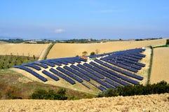 επιτροπές πεδίων ηλιακές Στοκ εικόνα με δικαίωμα ελεύθερης χρήσης
