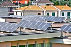 επιτροπές σπιτιών ηλιακές Στοκ εικόνα με δικαίωμα ελεύθερης χρήσης