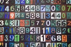 επιτροπή αριθμών Στοκ φωτογραφία με δικαίωμα ελεύθερης χρήσης