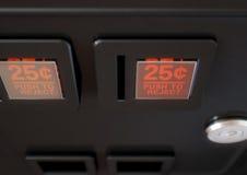 Επιτροπή αυλακώσεων νομισμάτων μηχανών Arcade Στοκ φωτογραφία με δικαίωμα ελεύθερης χρήσης