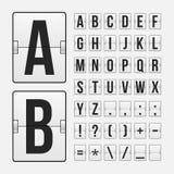 Επιτροπή αλφάβητου επιστολών και συμβόλων πινάκων βαθμολογίας Στοκ φωτογραφία με δικαίωμα ελεύθερης χρήσης