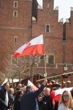 Επιτροπή για την υπεράσπιση των υποστηρικτών δημοκρατίας που διαμαρτύρονται σε Wroclaw Στοκ Εικόνα