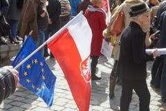 Επιτροπή για την υπεράσπιση των υποστηρικτών δημοκρατίας που διαμαρτύρονται σε Wroclaw Στοκ φωτογραφία με δικαίωμα ελεύθερης χρήσης