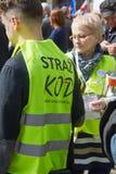 Επιτροπή για την υπεράσπιση των υποστηρικτών δημοκρατίας που διαμαρτύρονται σε Wroclaw Στοκ εικόνες με δικαίωμα ελεύθερης χρήσης
