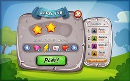 Επιτροπή επιπέδων με τις επιλογές για το παιχνίδι Ui απεικόνιση αποθεμάτων