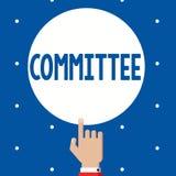 Επιτροπή κειμένων γραφής Έννοια που σημαίνει την ομάδα παρουσίασης που διορίζεται για μια συγκεκριμένη function Company ομαδική ε ελεύθερη απεικόνιση δικαιώματος