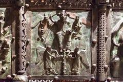Επιτροπή χαλκού στην πύλη Basilica Di SAN Zeno Στοκ εικόνες με δικαίωμα ελεύθερης χρήσης