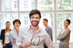Επιτυχές άτομο ως επιχειρηματία Στοκ εικόνα με δικαίωμα ελεύθερης χρήσης