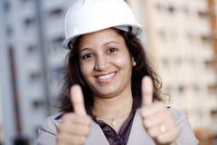 Επιτυχής βιομηχανικός μηχανικός Στοκ εικόνα με δικαίωμα ελεύθερης χρήσης