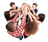 Επιτυχής επιτυχία εορτασμού επιχειρησιακών ομάδων στοκ φωτογραφία