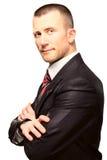 Επιτυχής επιχειρηματίας νεαρών άνδρων στο κοστούμι Στοκ εικόνα με δικαίωμα ελεύθερης χρήσης