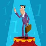 Επιτυχής επιχειρηματίας ελεύθερη απεικόνιση δικαιώματος