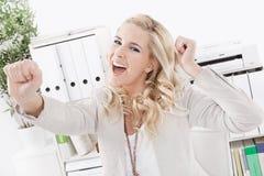 Επιτυχής επιχειρησιακή γυναίκα - πρόσωπο χαμόγελου Στοκ Φωτογραφίες
