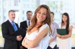 Επιτυχής επιχειρησιακή γυναίκα στοκ φωτογραφίες