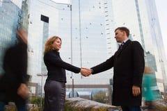 Επιτυχής επιχειρησιακή διαπραγμάτευση Στοκ Φωτογραφίες