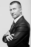 Επιτυχής νέος επιθετικός επιχειρηματίας ατόμων που φαίνεται ισχυρός και ομο Στοκ εικόνα με δικαίωμα ελεύθερης χρήσης