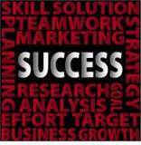 Επιτυχία-λέξεις Στοκ Εικόνες