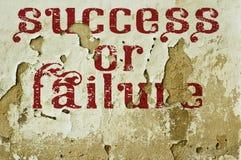 Επιτυχία ή αποτυχία Στοκ φωτογραφία με δικαίωμα ελεύθερης χρήσης