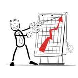 Επιτυχία αύξησης γραφικών παραστάσεων παρουσίασης επιχειρηματιών των πωλήσεων Στοκ φωτογραφία με δικαίωμα ελεύθερης χρήσης