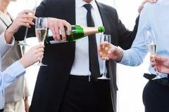 Επιτυχία εορτασμού από κοινού Στοκ Φωτογραφίες