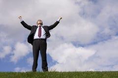 επιτυχία επιχειρηματιών στοκ εικόνα με δικαίωμα ελεύθερης χρήσης