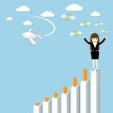 Επιτυχία επιχειρηματιών Στοκ Εικόνες