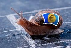 Επιτυχία μεταφοράς του ευρο- νομίσματος Στοκ Φωτογραφία