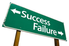 επιτυχία οδικών σημαδιών αποτυχίας Στοκ εικόνα με δικαίωμα ελεύθερης χρήσης