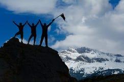 Επιτυχία ομάδας από κοινού στοκ φωτογραφία με δικαίωμα ελεύθερης χρήσης