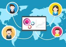 Επιτυχία ομαδικής εργασίας παγκόσμιων επιχειρηματιών Στοκ Εικόνα