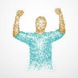 Επιτυχία, περίληψη, τύχη, νικητής Στοκ εικόνα με δικαίωμα ελεύθερης χρήσης