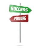 επιτυχία σημάτων αποτυχία&s απεικόνιση αποθεμάτων