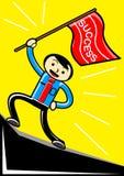 επιτυχία σημαιών ελεύθερη απεικόνιση δικαιώματος