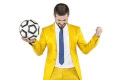 Επιτυχία στο ποδόσφαιρο Στοκ Φωτογραφίες