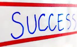 Επιτυχία στο whiteboard Στοκ εικόνες με δικαίωμα ελεύθερης χρήσης