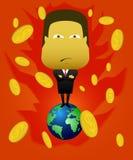 Επιτυχείς επιχειρηματίες για να εξουσιάσει την αγορά παγκοσμίως διανυσματική απεικόνιση