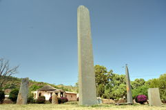 Επιτύμβια στήλη σε Axum στην Αιθιοπία Στοκ Εικόνες