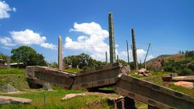 Επιτύμβια στήλη Axum aka ταφοπετρών, Tigray, βόρεια Αιθιοπία Στοκ φωτογραφία με δικαίωμα ελεύθερης χρήσης