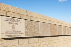 Επιτύμβια στήλη τα ονόματα του γερμανικού πολέμου στρατιωτών, Rossoshka Βόλγκογκραντ, RU Στοκ φωτογραφίες με δικαίωμα ελεύθερης χρήσης