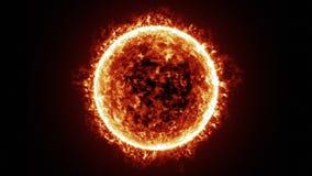 Επιφάνεια ήλιων και ζωτικότητα ηλιακών εκλάμψεων ελεύθερη απεικόνιση δικαιώματος