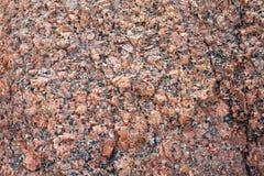 Επιφάνεια ανακούφισης μιας πέτρας γρανίτη με τη φυσική σύσταση Στοκ Φωτογραφία