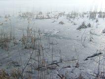 Επιφάνεια πάγου της λίμνης Στοκ Φωτογραφία