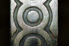 Επιφάνεια σιδήρου με ένα σχέδιο Μακροεντολή Στοκ Εικόνα