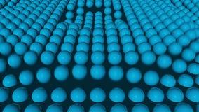 Επιφάνεια σφαιρών στην κίνηση απεικόνιση αποθεμάτων