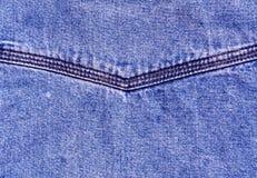 Επιφάνεια τζιν παντελόνι με τη βελονιά Στοκ Φωτογραφίες