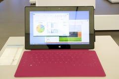 Επιφάνεια της Microsoft στο κατάστημα της Microsoft Στοκ φωτογραφία με δικαίωμα ελεύθερης χρήσης
